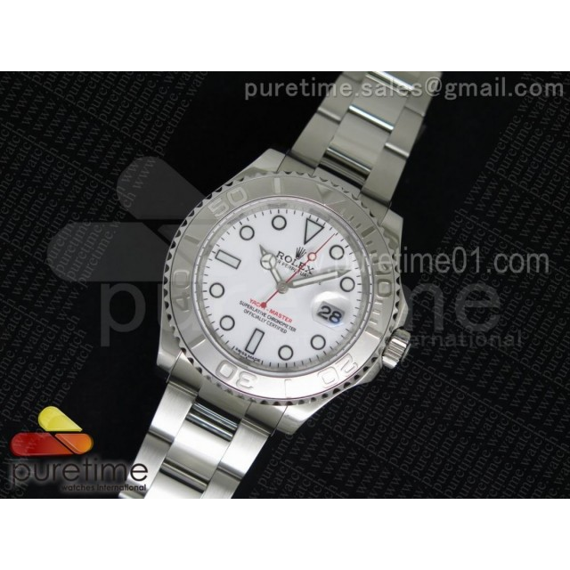 Yacht-Master 116622 1:1 Noob Best Edition White Dial on SS Bracelet A2824