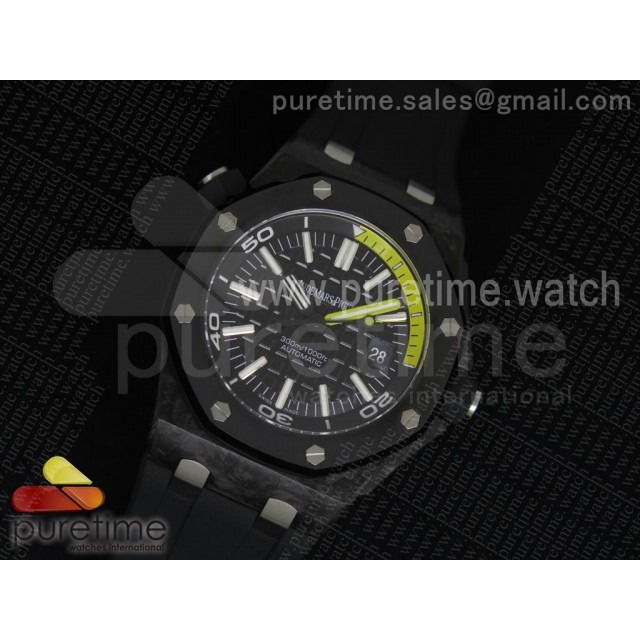 Royal Oak Offshore Diver Forged Carbon 1:1 V6F Best Edition on Rubber Strap A2824