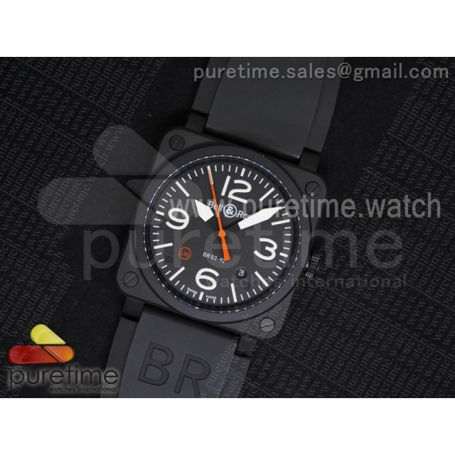 BR 03-92 Ltd Limited Edition PVD Black Dial on Black Rubber Strap MIYOTA 9015 V2