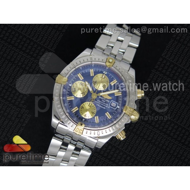 Chronomat Evolution SS Blue/YG Dial on SS Bracelet A7750