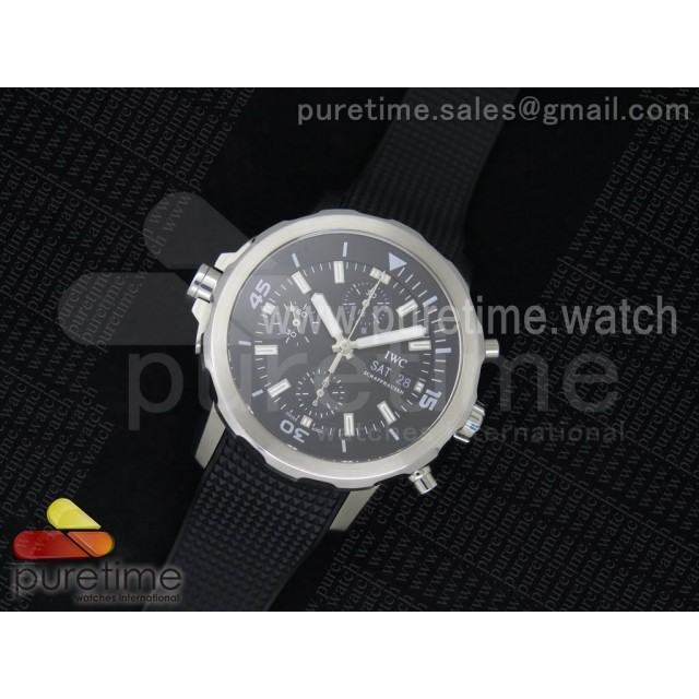 Aquatimer Chrono IW376803 Black Dial on Black Rubber Strap A7750