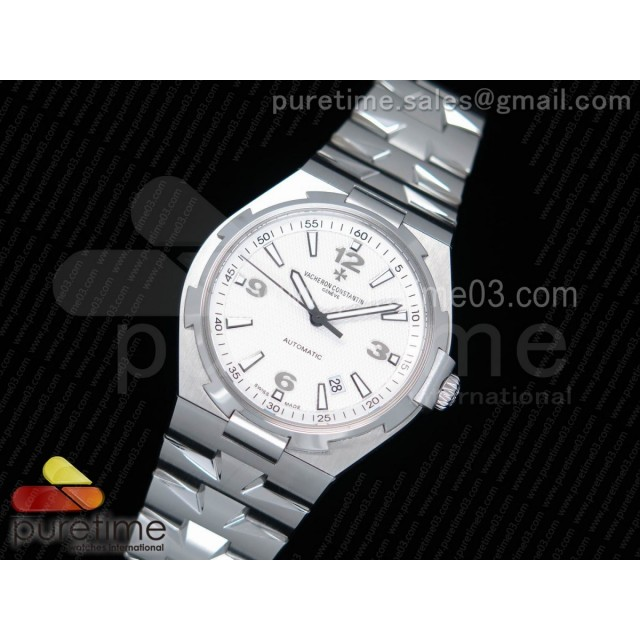 Overseas SS JJF 1:1 Best Edition White Textured Dial on SS Bracelet MIYOTA9015