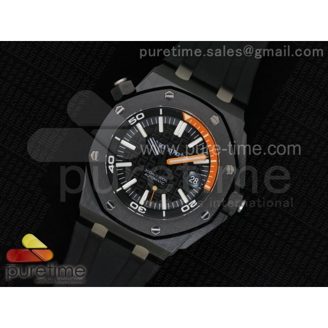 Royal Oak Offshore Diver Real Ceramic JF Best Edition on Rubber Strap A3120