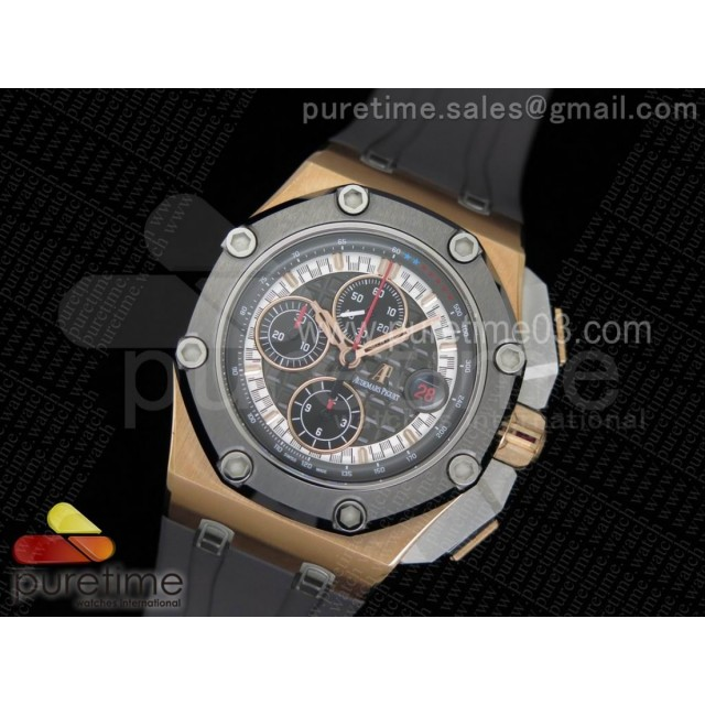 Royal Oak Offshore 44mm RG Cermet Bezel Michael Schumacher 1:1 Noob Best Edition A3126