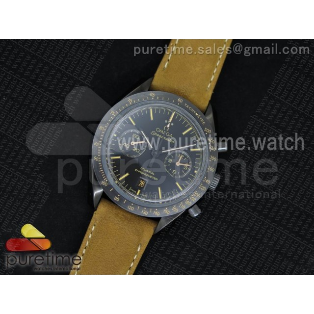 Speedmaster Moonwatch Co-Axial Chronograph Vintage Black on Brown Asso/Rubber Strap A9300