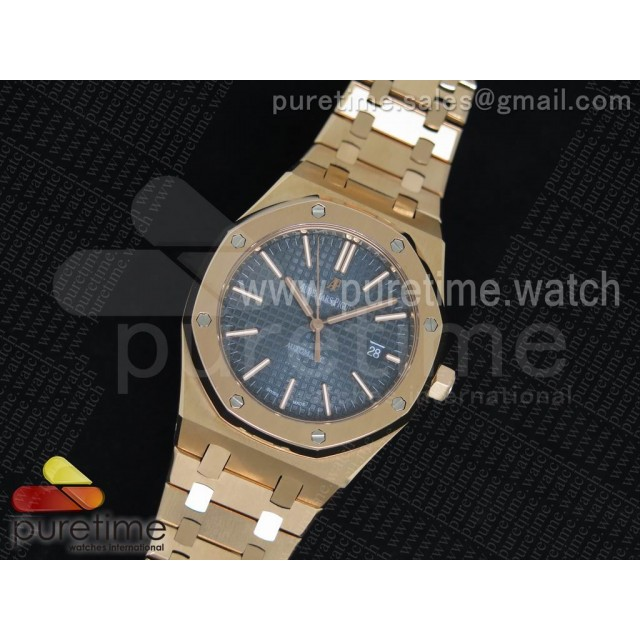 Royal Oak 41mm RG 15400 TF 1:1 Best Edition Blue Dial on SS Bracelet MIYOTA 9015