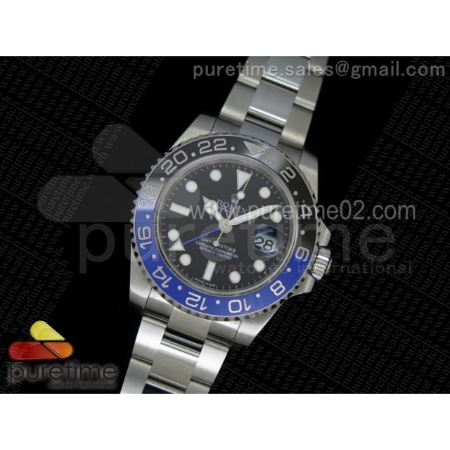 GMT-Master II 116710 BLNR Black/Blue Ceramic 1:1 Noob Best Edition A3187 (Correct Hand Stack)