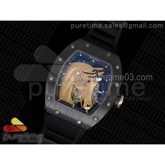 RM52-02 RG Horse Unique Piece Real Ceramic on Black Rubber Strap MIYOTA8215