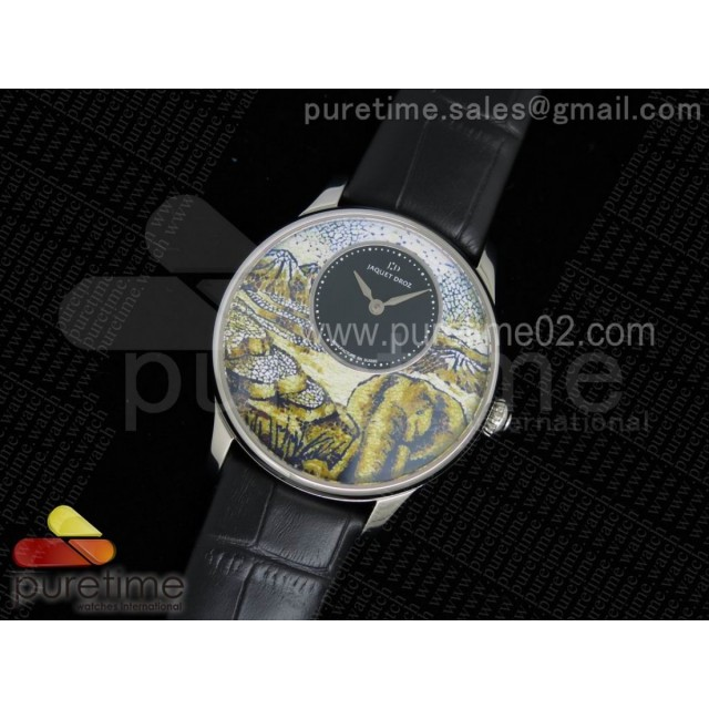 Petite Heure Minute SS Elephant Dial on Black Leather Strap A23J