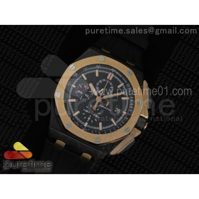Royal Oak Offshore 44mm Forged Carbon QEII CUP 2016 JF Best Edition on Rubber Strap A3126