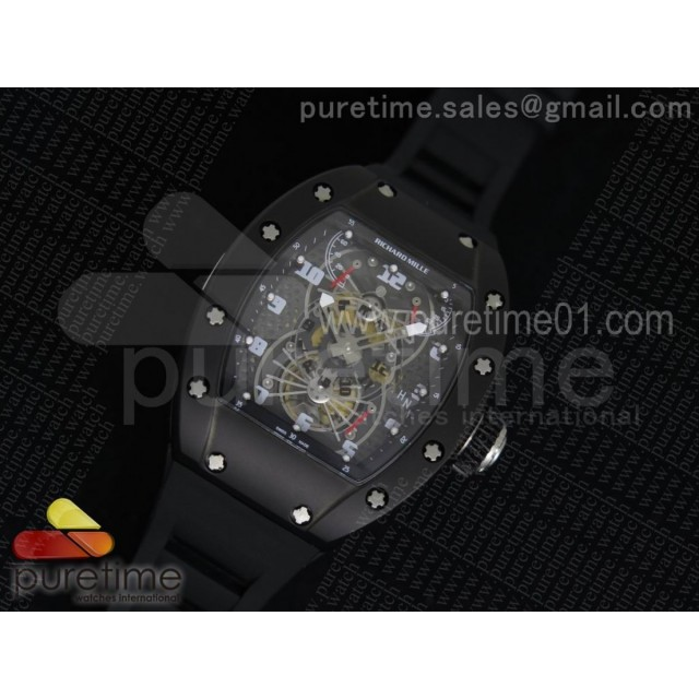 RM022 PVD Skeleton Dial on Black Rubber Strap MIYOTA 9015
