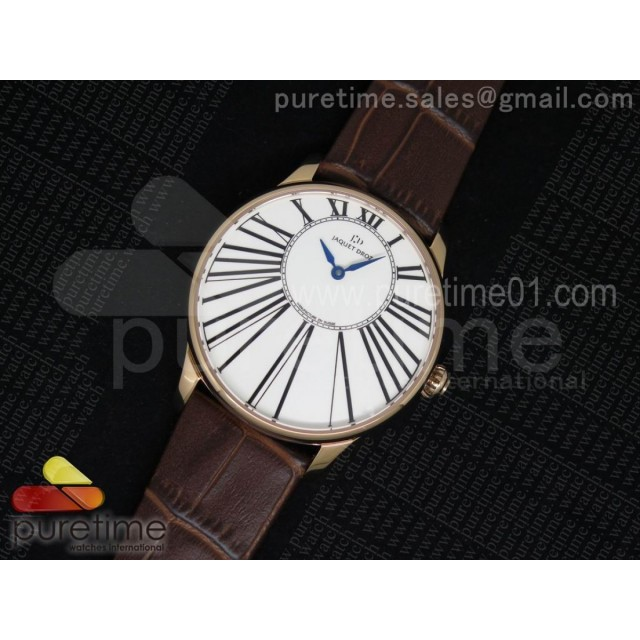 Petite Heure Minute RG White Dial on Brown Leather Strap A23J