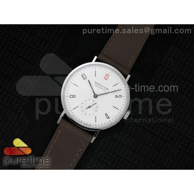 Tangente V6F White Dial Style 3 on Brown Leather Strap A23J