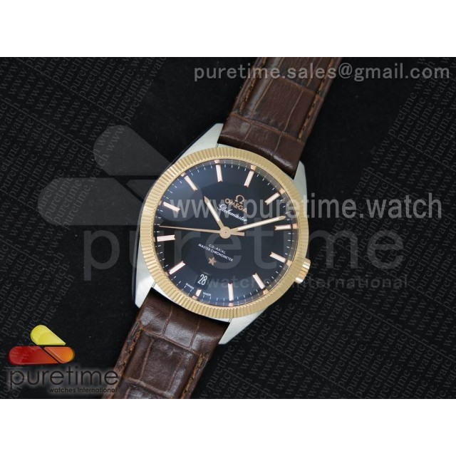 Globemaster Master Chronometer SS/RG V6F Best Edition White Dial on Brown Leather Strap A8900