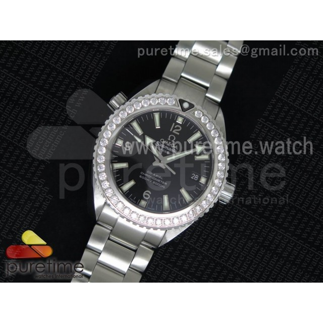Planet Ocean Professional Diamonds Bezel 42mm V6F Best Edition on SS Bracelet A8500