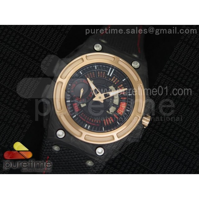 Spidolite II Tech Gold Forge Carbon V6F 1:1 Best Edition Lite on Black Nylon Strap A23J