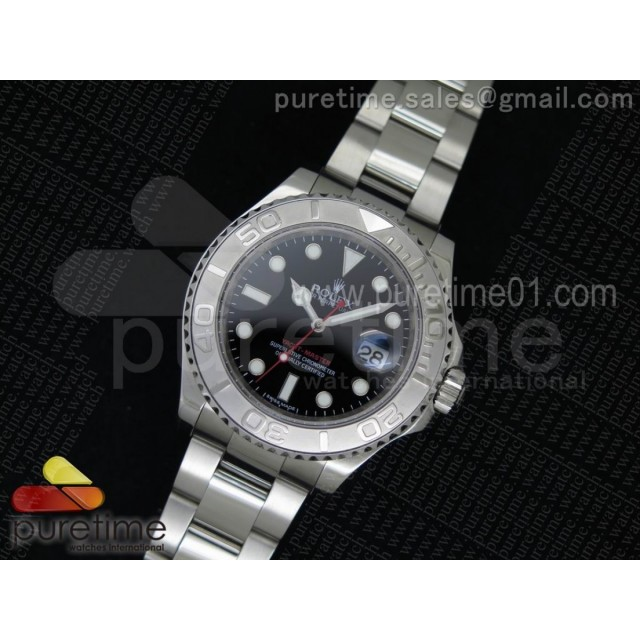 Yacht-Master 116622 1:1 Noob Best Edition Black Dial on SS Bracelet A2824