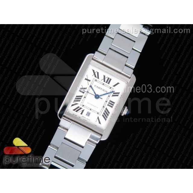 Tank Solo 31mm SS ZF 1:1 Best Edition White Dial on SS Bracelet MIYOTA 9015