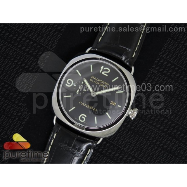 PAM388 O V6F 1:1 Best Edition Black Dial on Black Leather Strap P9000