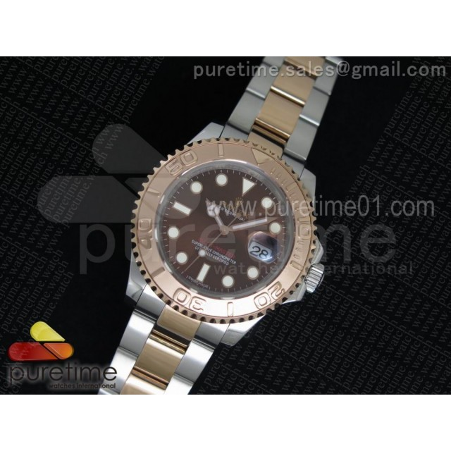 Yacht-Master 116621 RG Bezel Brown Dial on SS/RG Bracelet A2836 (Free Leather Strap)