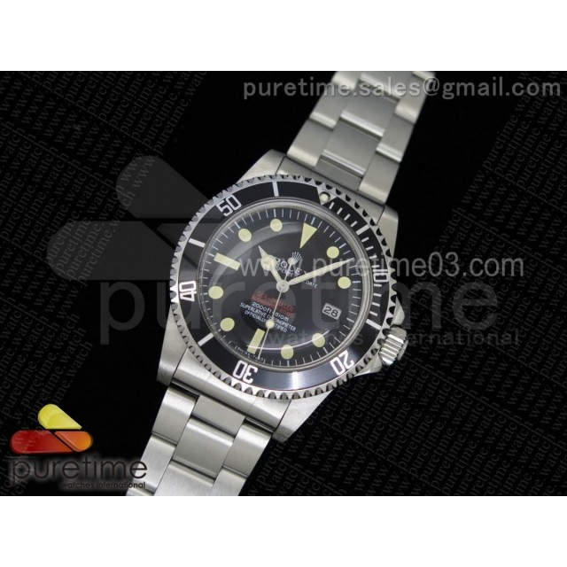 Vintage Sea-Dweller 1665 Black Dial on SS Bracelet A2836