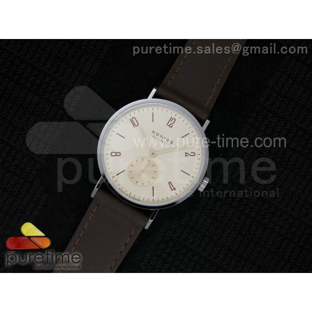 Tangente V6F Cream Dial on Brown Leather Strap A23J