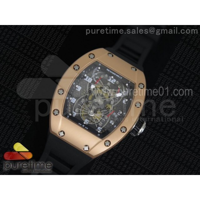 RM022 RG Skeleton Dial on Black Rubber Strap MIYOTA 9015
