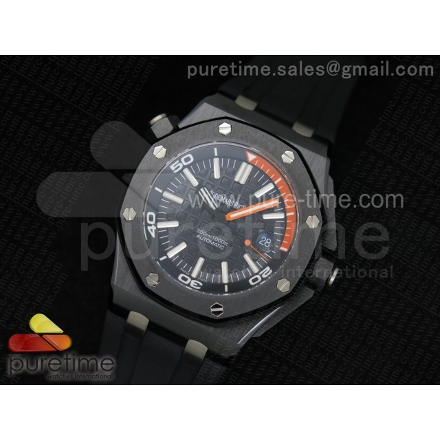 Cheap Discount Replica Royal Oak Offshore Diver Real Ceramic Noob Best Edition on Rubber Strap A3120