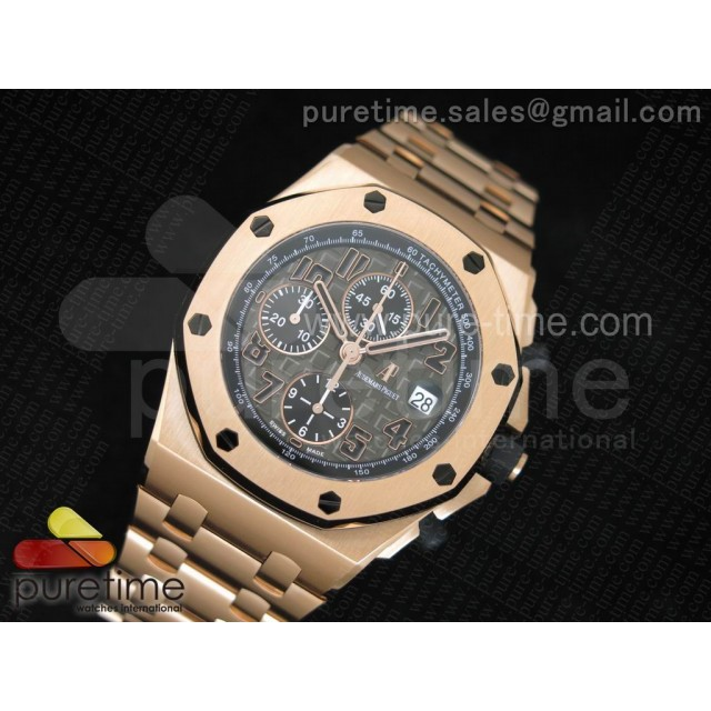 Cheap Discount Replica Royal Oak Offshore JF Best Edition Don Ramon de la Cruz on RG Bracelet A7750
