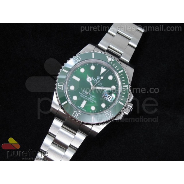 Cheap Discount Replica Submariner 116610 LV Green Ceramic 1:1 Noob Best Edition A2836