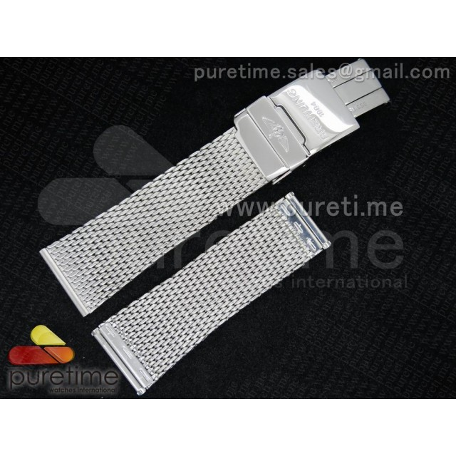 Cheap Discount Replica Breitling 22mm Stainless Steel Mesh Bracelet