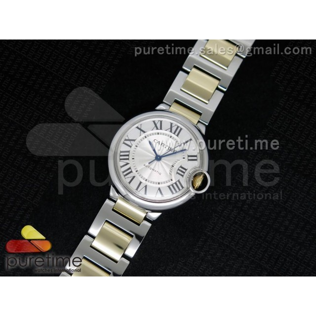 Cheap Discount Replica Ballon Bleu SS White Textured Dial on YG Wrapped SS Bracelet ETA2671