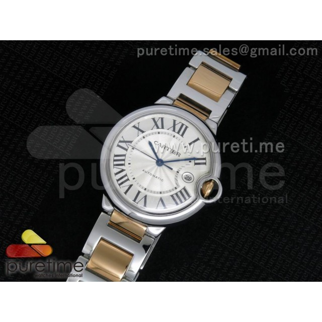 Cheap Discount Replica Ballon Bleu 42mm SS White Textured Dial on SS/RG Bracelet ETA2892
