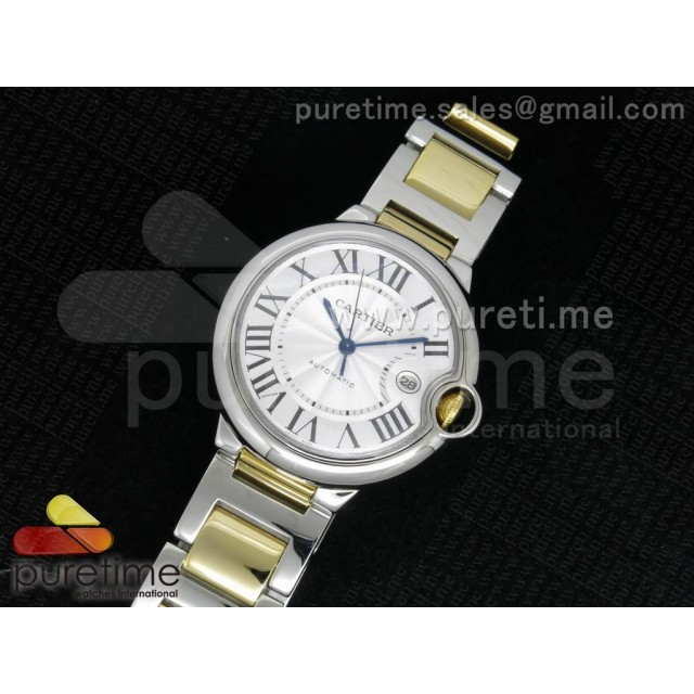 Cheap Discount Replica Ballon Bleu 42mm SS White Textured Dial on SS/YG Bracelet ETA2892