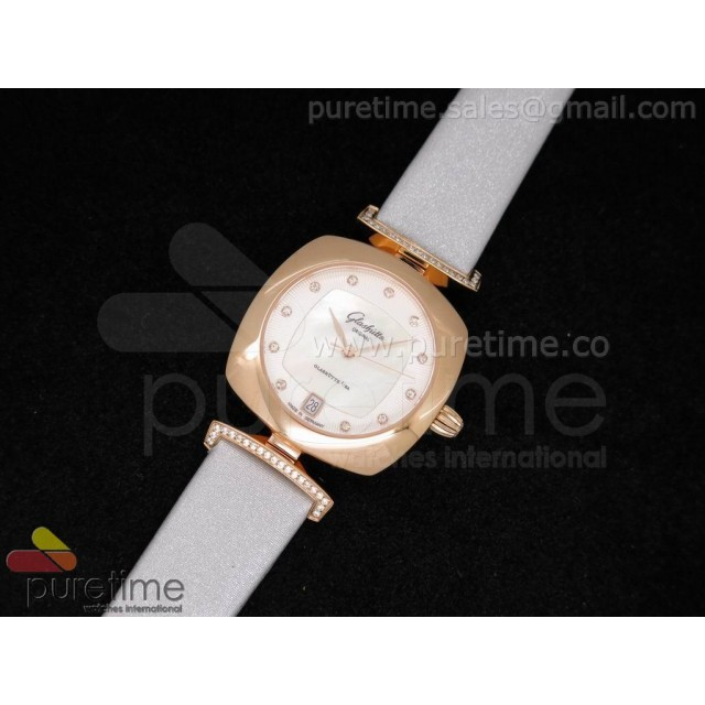 Cheap Discount Replica Pavonina RG White Dial on Gray Fabric Strap Ronda Quartz