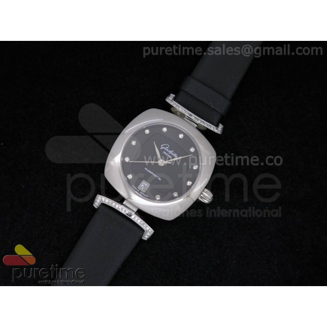 Cheap Discount Replica Pavonina SS Black Dial on Black Fabric Strap Ronda Quartz