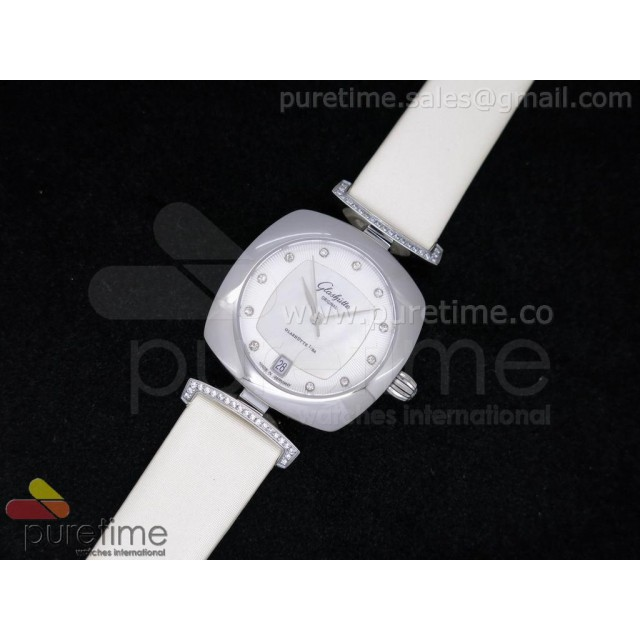 Cheap Discount Replica Pavonina SS White Dial on White Fabric Strap Ronda Quartz