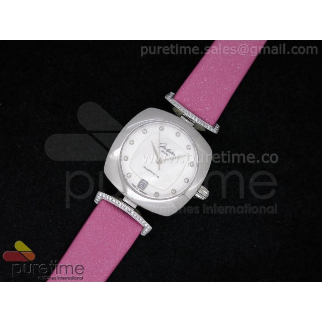 Cheap Discount Replica Pavonina SS White Dial on Pink Fabric Strap Ronda Quartz