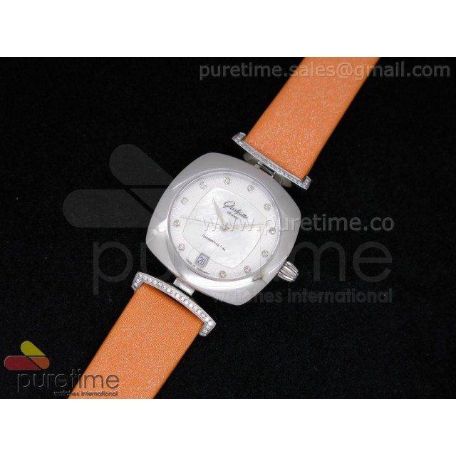 Cheap Discount Replica Pavonina SS White Dial on Orange Fabric Strap Ronda Quartz