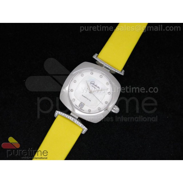 Cheap Discount Replica Pavonina SS White Dial on Yellow Fabric Strap Ronda Quartz