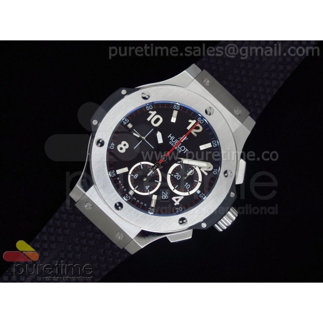 Cheap Discount Replica Big Bang Evolution 44mm SS Black Dial on Black Rubber Strap HUB4104