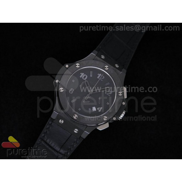 Cheap Discount Replica Big Bang 38mm Chrono Ceramic Black Dial on Black Gummy Strap JAP Quartz