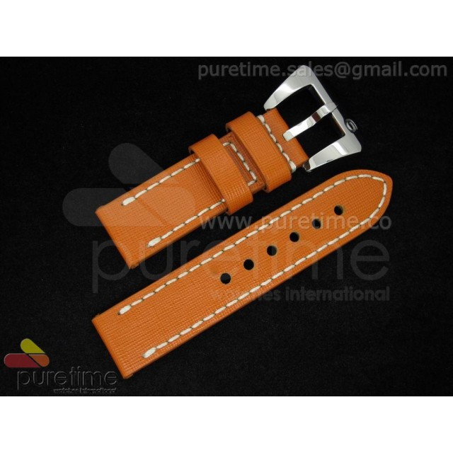 Cheap Discount Replica Panerai 24/24 Brown Leather Strap on SS 6-Tang Buckle