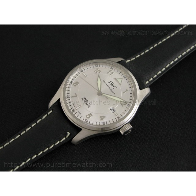 Cheap Discount Replica Mark XV White on Leather Strap ETA-2842