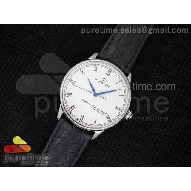 Cheap Discount Replica Numerus Clausus 8/88 SS White Dial on Black Leather Strap MIYOTA 9015