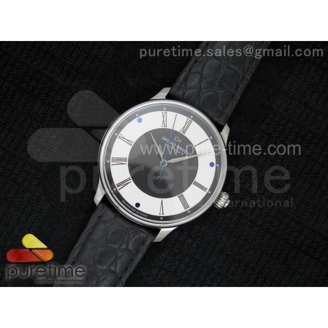 Cheap Discount Replica Numerus Clausus 8/88 SS White/Black Dial on Black Leather Strap MIYOTA 9015