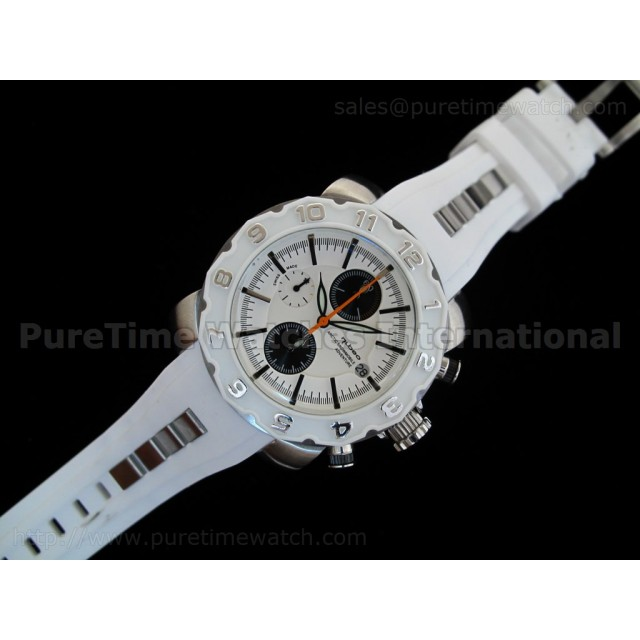 Cheap Discount Replica Arctic Chrono Rubber Collection White