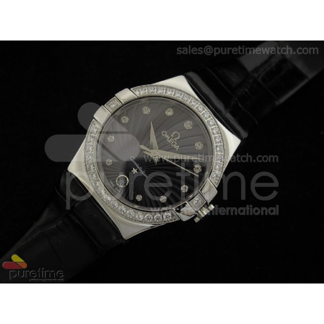 Cheap Discount Replica Constellation Quartz 35mm Diamonds Black
