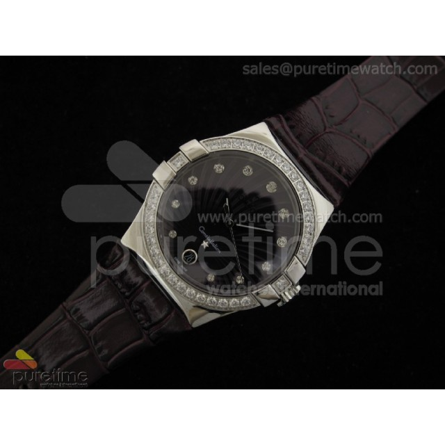 Cheap Discount Replica Constellation Quartz 35mm Diamonds Purple