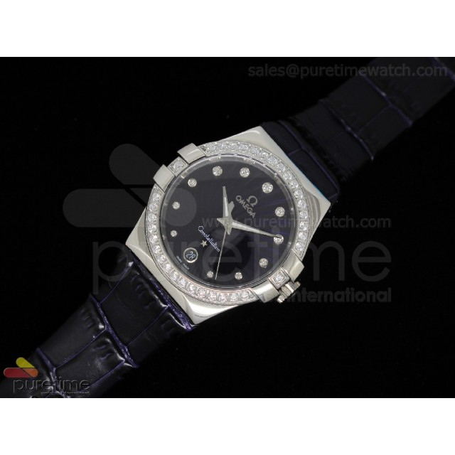 Cheap Discount Replica Constellation Quartz 35mm Purple Diamond V2